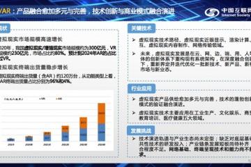 2020年中国AR/VR市场规模300亿元预计2024年AR市场将超过VR